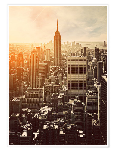 Sunset In Manhattan New York Posters And Prints