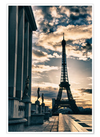 Premium poster  Colors of Eiffel Tower in Winter