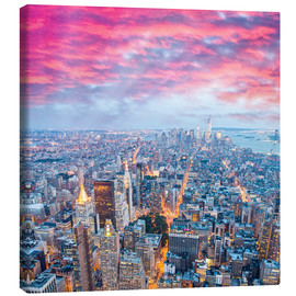 Canvas print  Amazing New York skyline at night