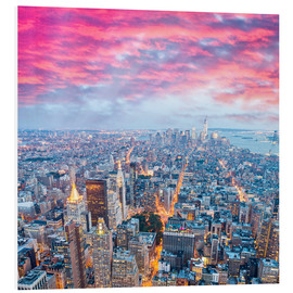 Foam board print  Amazing New York skyline at night