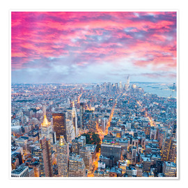Premium poster  Amazing New York skyline at night