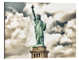 Aluminium print  Statue of Liberty - symbol of New York