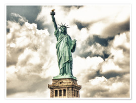 Premium poster  Statue of Liberty - symbol of New York