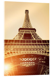 Acrylic print  Vintage Eiffel Tower, Paris