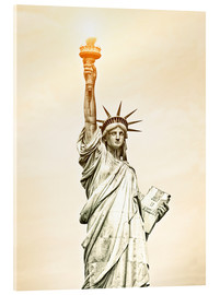 Acrylic print  Liberty Statue in New York, USA