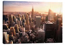 Canvas print  New York City - skyscrapers at sunset