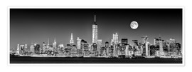 Premium poster Manhattan Skyline at dusk