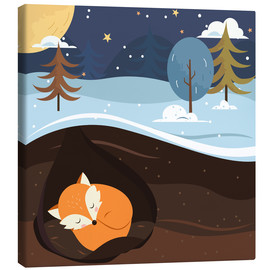 Canvas  Resting fox - Kidz Collection