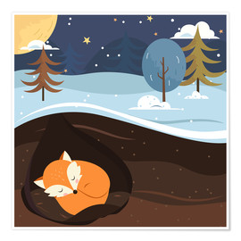 Premium poster  Resting fox - Kidz Collection