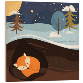 Wood  Resting fox - Kidz Collection