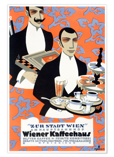 Poster Viennese coffee