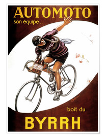 Premium poster  AUTOMOTO his team .... drinks Byrrh (french) - Leonetto Cappiello