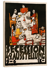 Wood print  Secession 49th exhibition (German) - Egon Schiele