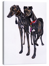 Canvas  Brindle greyhounds - Jim Griffiths