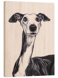 Wood  Whippet, Blue and white - Jim Griffiths