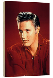 Wood print  Elvis Presley