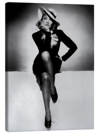 Canvas  Marlene Dietrich - heart in flames