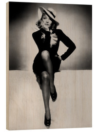 Wood  Marlene Dietrich - heart in flames