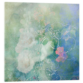 Acrylic print  Abstract flowers - Aimee Stewart
