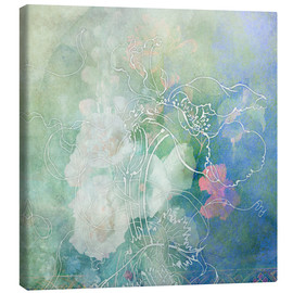 Canvas  Abstract flowers - Aimee Stewart