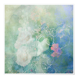 Premium poster Abstract flowers