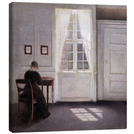 Canvas print  Interior with sunlight on the floor - Vilhelm Hammershøi
