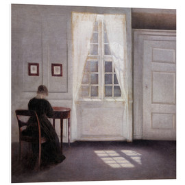 Forex  Interior with sunlight on the floor - Vilhelm Hammershøi