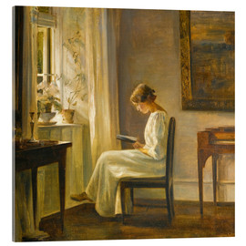 Acrylic print  Woman reading - Carl Holsøe
