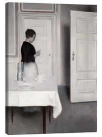 Canvas  Ida reading a letter - Vilhelm Hammershøi