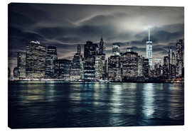 Canvas  Manhattan at night, New York City