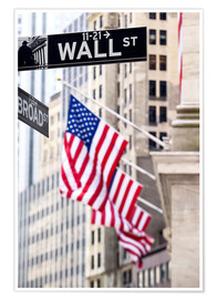 Premium poster Wall street sign, New York Stock Exchange