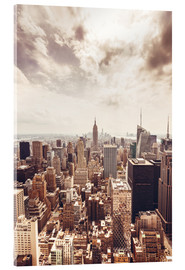 Acrylic print  Bronze Manhattan skyline
