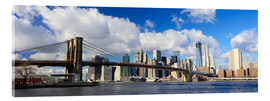 Acrylic glass  Panoramic Brooklyn Bridge and Manhattan skyline