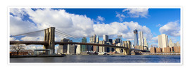 Premium poster  Panoramic Brooklyn Bridge and Manhattan skyline