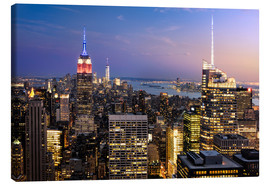 Canvas print  New York at sunset