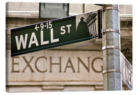 Canvas print  Wall Street - street sign