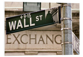 Foam board print  Wall Street - street sign