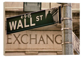 Wood  Wall Street - street sign