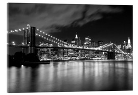 Acrylic glass  Brooklyn Bridge - Night scene
