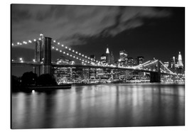 Aluminium print  Brooklyn Bridge - Night scene