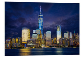 Foam board print  Manhattan skyline at night