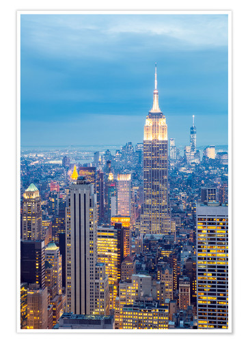 New York City Skyline Posters And Prints Posterlounge Co Uk