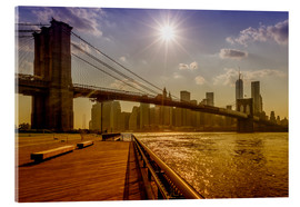 Acrylic print  Brooklyn Bridge, New York, USA