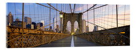 Acrylic glass  Brooklyn Bridge in Manhattan, New York