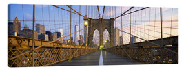 Canvas print  Brooklyn Bridge in Manhattan, New York
