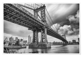 Premium poster  The Manhattan Bridge