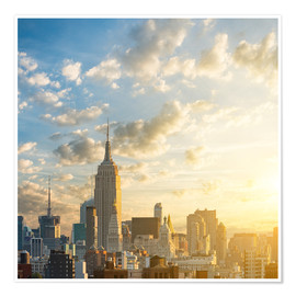 Premium poster  Sunrise in Manhattan, New York