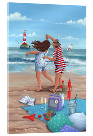 Acrylic print  Beach dance (Variant 1) - Peter Adderley