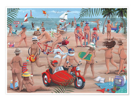 Premium poster The Nudist Beach