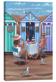 Canvas print  Beach Huts Afternoon Tease (Variant 1) - Peter Adderley